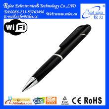 Mini wifi hd 720p battery powered ip wireless hidden portable pen camera