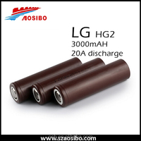 wholesale original lg hg2 18650 battery with 3000mah lithium polymer e-cigarette battery