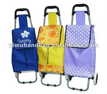 Portable trolley shopping bags with wheels