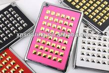 rivet chrome case back cover for mini ipad