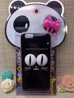 Blank Cat cell phone case For iPhone 6 3D Cartoon Big Eyes Series Case
