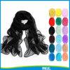 black summer thin black chiffon scarf