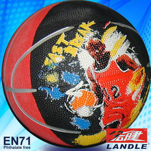 good new official size new style rubber made phthalate free rubbery basketball