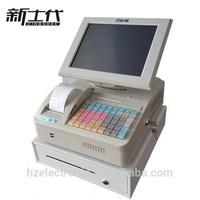 Menu display touch screen cash register with tills