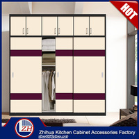 Double color wardrobe design furniture bedroom wall to wall sliding wardrobe doors