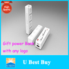 Gift Power Bank OEM Logo Customized Portable Power Charger with keychain