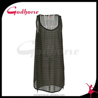 Lady New Fashion Trend Printed Woven Dress
