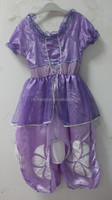 Instyles 2--10 years old the first fancy dress purple sofia dress Wholesale hotonesie walsonstyles