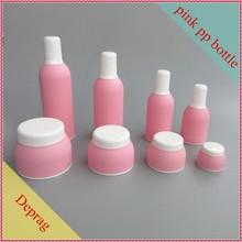 2015 novo pp tipo coreano atacado recipientes de plástico corpo branco creme recipientes vazios rosa cosméticos botttles