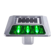Nokin manufacture super design aluminium solar led traffic reflective road stud capacitor