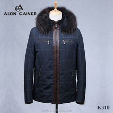 2015 fashion cotton-padded clothes Sheepskin jacket men