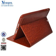 veaqee 2015 new product portable luxury wallet leather case for ipad air 2