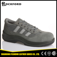 Genuine leather food industry safety shoes with steel toe FD3111