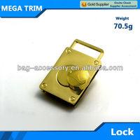 European style luggage shape metal bag clasp lock handbag metal turn twist lock