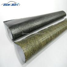 Durable new style stretchable car body protect python snake skin vinyl sticker