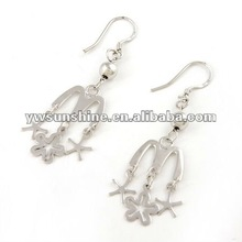 2012 fashion wholesale 925 sterling silver earring