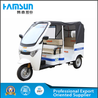 HANSEN 60V brand electric battery operated power tricycle rickshaw pedicab for passenger 2015 hot sale passenger taxi