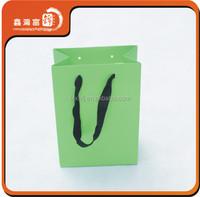 new green custom paper gift bag