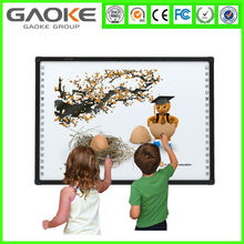 China manufacture good quality interactive magnetic smart board with pens for education software cheap white writing board