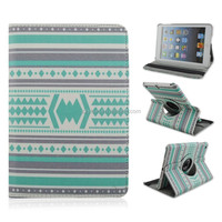 Green National Diamond Surface Rotating Folio Stand PU Leather Tablet Case For iPad 2/3/4, For iPad air 1/2, For iPad mini 1/2/3