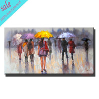 Decorativie hand painted lady canvas oil paintings