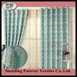 100% Polyester jacquard Blackout Window Curtain for fireproofing