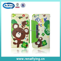 China supplier flip cover mobile phone leather case for iphone 5
