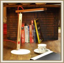 simple! high lumen led desk lamp fashionable led table lamp made of red oak wood