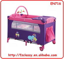 easy folding outdoor baby travel cot full function infant baby playpen most popular infant large playpen
