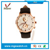 Luxury lady watches big case chronograph watches with different color watch band