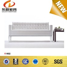 Grace White Leather Commercial Sofa Set
