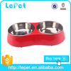 beautiful stainless steel dog bowl eco-friendly pet feeder
