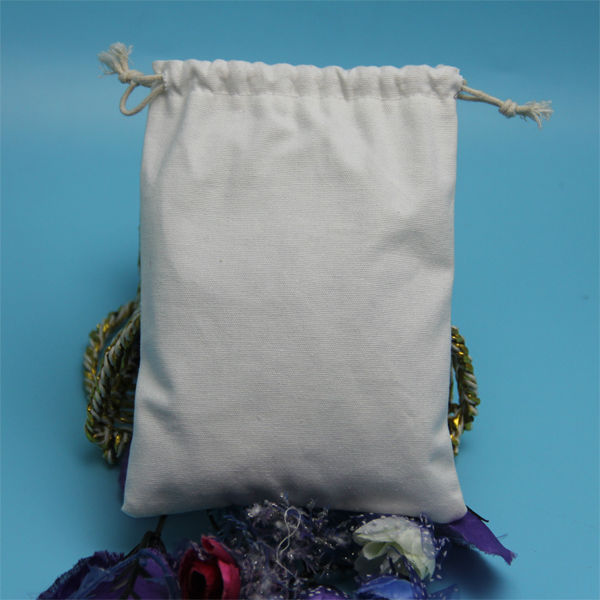wholesale promotional small natural cotton drawstring bag cotton linen drawstring pouch dust bag for hand bag