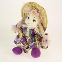 Cloth Rag Dolls with Straw Hat/ Plush Fairy Rag Doll 22cm Tall