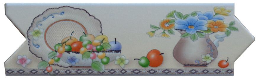 Flower Tiles Kitchen Kitchen Border Tiles Fruit