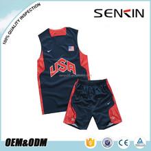 Custom Promotional basketball jersey,Team USA basketball jersey