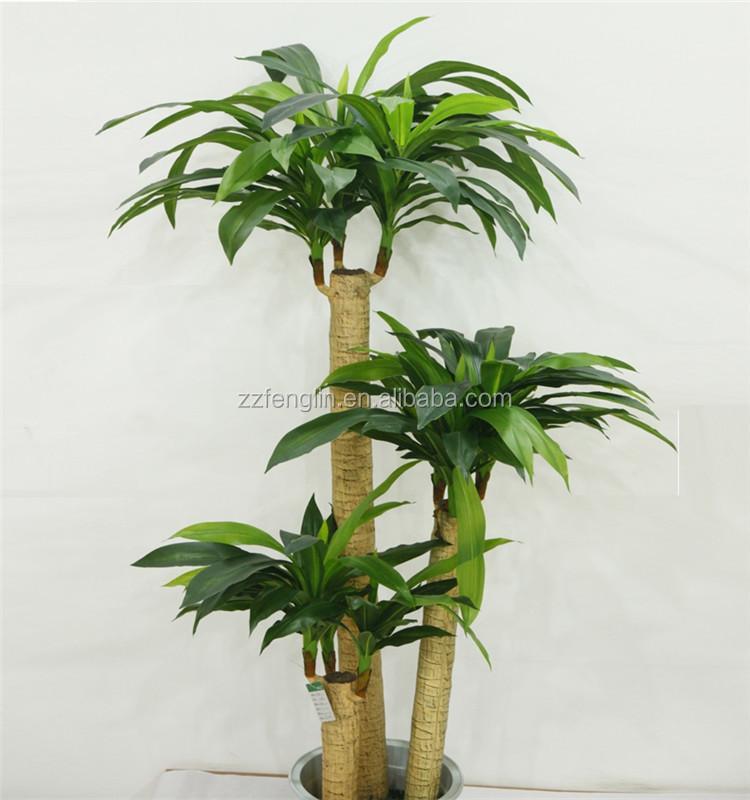 Vente chaude chers artificielle dracaena usine faux arbre - Simulation decoration interieure ...