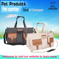Wholesale high quality Elegance cheap vintage polka dots dog carrier,lovely soft pet carrier bag