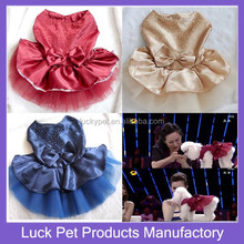 Luck Pet Products Dog Clothes Dress Costume Luxury Dog Dress Lovely Bowtie Wedding Dress for Dog