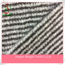 Striped wool fabric for overcoats