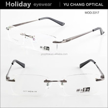Rimless Eyeglasses Frame fashion metal eyewear spectacle frames for reading glasses