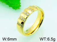 6.5g 6mm Wholesale High End Jewelry Gold Plated Engagement Ring