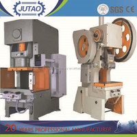 J21 series deep throat power press , stainless steel hole press machine , steel square tube punch