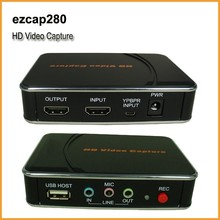 Portable 1080P HDMI and YpBpr video game players and recorder