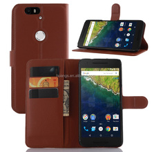Hot! New! Luxury PU Leather case lychee stand cell phone case for huawei nexus 6p factory price