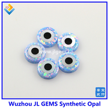 op26 cornflower blue synthetic evil eye Round Opal Beads for DIY Opal jewelry