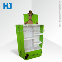 POP Pet Prodcuts Paper Display Rack For Pet Accessories With Customized Priting