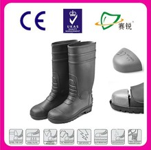 2015 NEW lightweight Water proof steel toe insert PVC safety boots,protective boots footwear