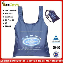 Integrated pouch design 190T Recycled PET Foldable bag, recycled bag