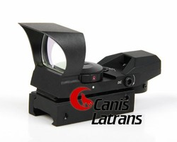 2-0028 Tactical Thermal Military War Game Four-Retical 20mm Picatinny / Weaver Rails Dot Sight with red/green Illumination